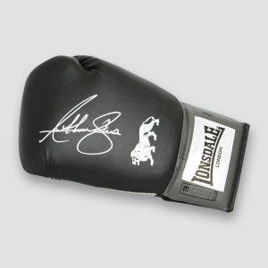 Anthony Joshua Signed Lonsdale Black Boxing Glove