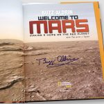 Buzz-Aldrin-Signed-Welcome-to-Mars-edition-Hardcover-Book-inside