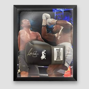 Anthony Joshua Signed and Framed Black Lonsdale Boxing Glove