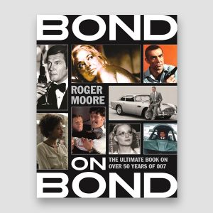 Roger Moore Signed Paperback 'Bond on Bond – on 50 Years of Bond Movies' Book