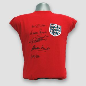 Replica 1966 England World Cup Final Shirt With Five Signatures