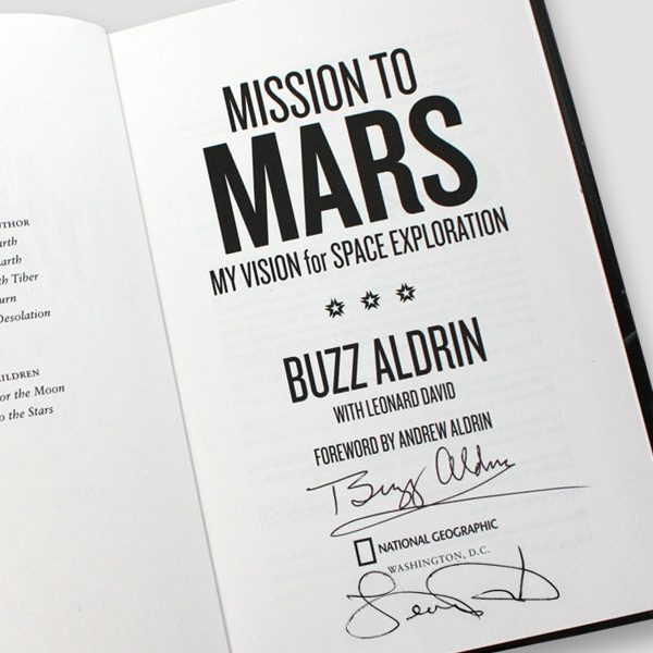 Buzz-Aldrin-Signed-Mission-to-Mars-Book-inside