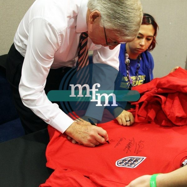 England 66 World Cup retro shirt signed by Sir Martin Peters