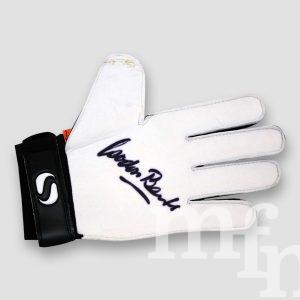 1966 World Cup Winner Gordon Banks Signed Sondico Goalkeeper Glove MFM Sports Memorabilia