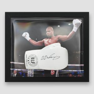 Daniel Dubois Signed and Framed White VIP Boxing Glove