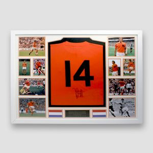 Holland home shirt personally signed by Johan Cruyff
