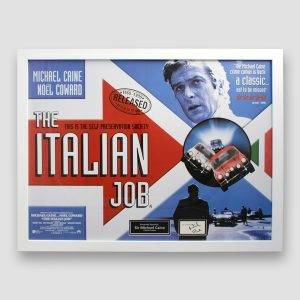 Italian Job photo display personally signed by Sir Michael Caine