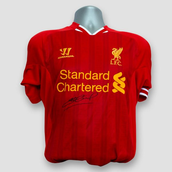 Liverpool F.C. shirt personally signed by Steven Gerrard