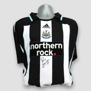 Newcastle home shirt personally signed by Paul Gascoigne