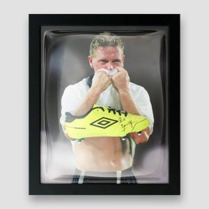 Paul 'Gazza' Gascoigne Signed and Framed Football Boot