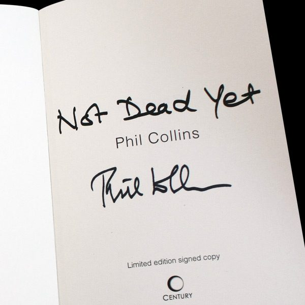 Phil-Collins-Book-'Not-dead-yet'-personally-signed-by-Phil-Collins-inside