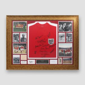 Very 'RARE' England 1966 World Cup Retro Shirt & Photo Display