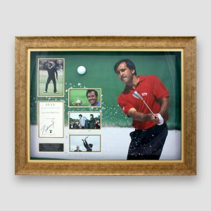 "RARE Severiano ""Seve"" Ballesteros photo display personally signed by Seve"