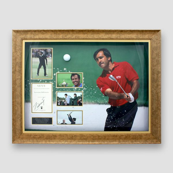 RARE-Severiano-Seve-Ballesteros-photo-display-personally-signed-by-Seve