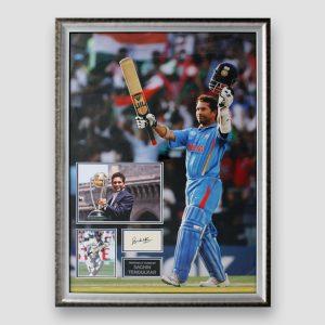 Sachin Tendulkar photo display personally signed by Sachin