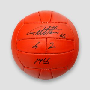 Size 5 Football Hand Signed by England's Sir Geoff Hurst – 4-2