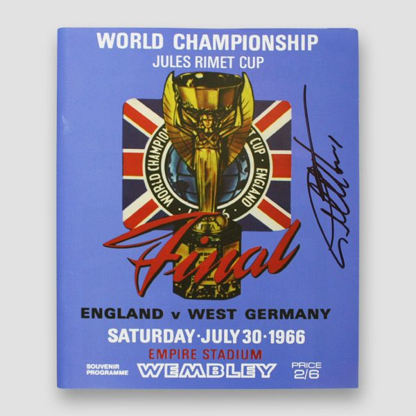 1966 World Cup Final reprint programme, personally hand signed by Sir Geoff Hurst