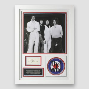 The Who photo display personally signed by Pete Townshend