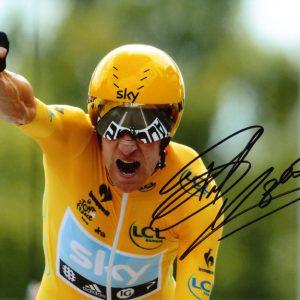 Personally Signed Photo by Bradley Wiggins Tour de France Winner