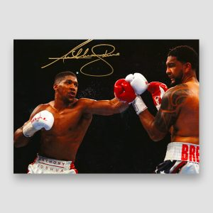 Anthony Joshua Signed A3 Action Photo Print