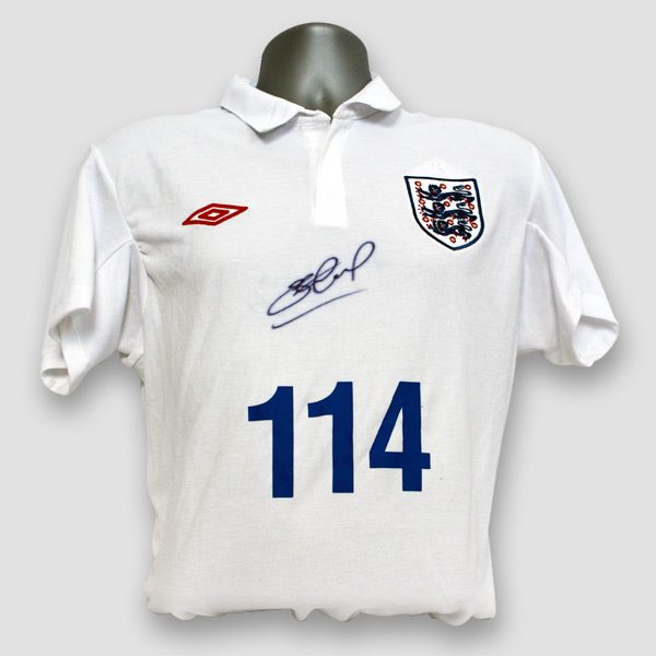England Football shirt personally signed by Steven Gerrard