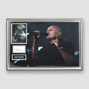 Phil Collins personally signed photo display