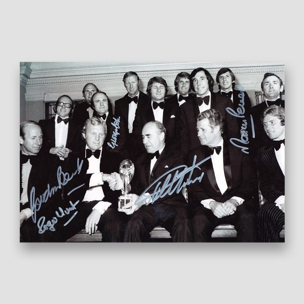 Autographed 1966 World Cup Squad Photo Print by 5 of the England Winning Team