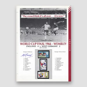 Autographed World Cup 1966 Football Masterfile Page, Alf Ramsey