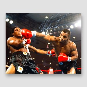 Mike Tyson Signed Action Photo Print