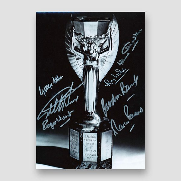 Autographed 1966 World Cup Photo Print by 7 of the England Winning Team