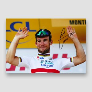 Mark Cavendish Signed Podium Photo Print