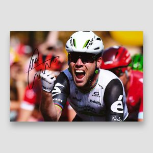 Mark Cavendish Signed Cycling Action Photo Print MFM Sports Memorabilia