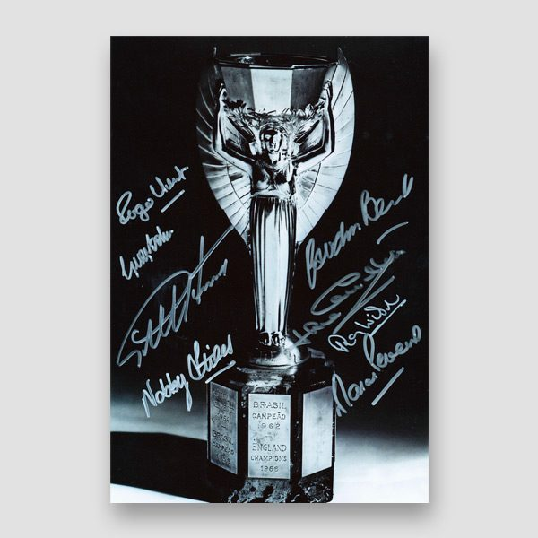 Autographed 1966 World Cup Photo Print by 8 of the England Winning Team