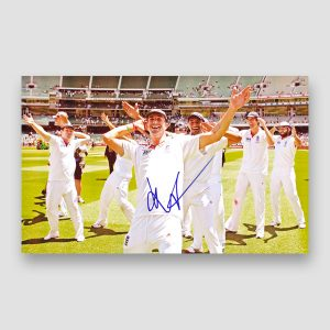 Kevin Pietersen Celebrating With Team Mates Signed Photo Print MFM Sports Memorabilia