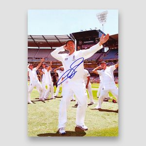 Graham Swann Celebrating With Team Mates Signed Photo Print