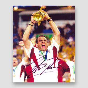 Martin Johnson (Captain) 2003 World Cup Winner Signed Photo Print MFM Sports Memorabilia