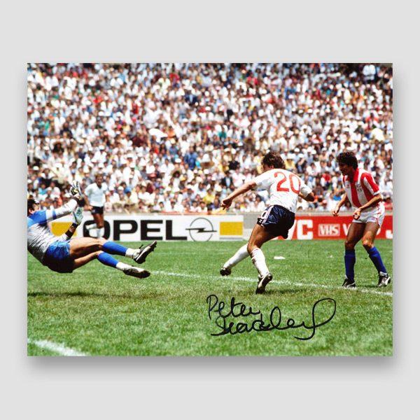 39-Peter-Beardsley-signed-England-photo