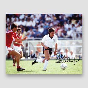Peter Beardsley Signed England Action Photo Print MFM Sports Memorabilia