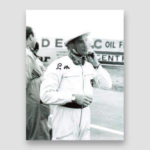 Motor Racing Legend Stirling Moss Signed Photo Print MFM Sports Memorabilia