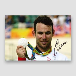 Mark Cavendish Signed Medal Winning Photo Print MFM Sports Memorabilia