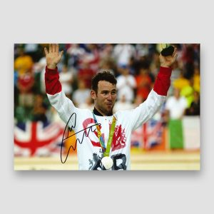 Mark Cavendish Signed Medal Winning Photo Print
