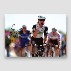 Mark Cavendish Signed Cycling Action Photo Print