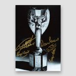 Autographed Colour 1966 World Cup Photo Print, Geoff Hurst and Martin Peters