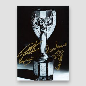 Autographed 1966 World Cup Photo Print by 5 of the England Winning Team