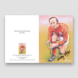 Nobby Stiles Autographed Full Colour Greeting Card
