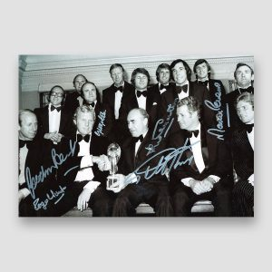 Autographed 1966 World Cup Squad Photo Print by 6 of the England Winning Team