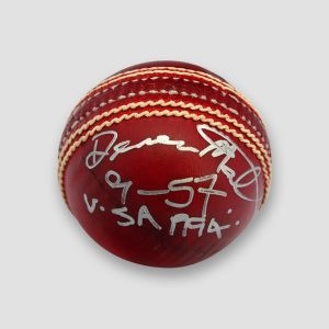 Devon Malcolm Signed Cricket Ball Plus Career Wickets Taken