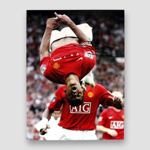 Nani Signed Picture of his Celebration Back Flip