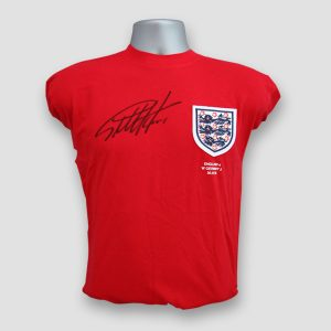 World Cup 66 Replica Score Draw Shirt Signed by Sir Geoff Hurst