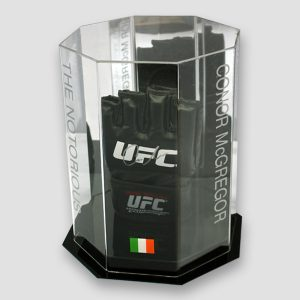 Conor McGregor Hand Signed Official Fight UFC MMA Glove in Octagon Display Case MFM Sports Memorabilia